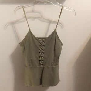 Never worn XS American eagle army green tank top!